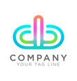 abstract logo templates for your digital business vector image