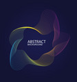 abstract music background with a dynamic waves vector image