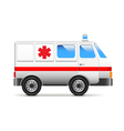 Ambulance isolated on white vector image