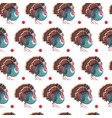 autumn seamless pattern happy thanksgiving day vector image vector image