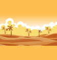 background scene with trees in sand vector image