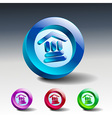 bank icon glass institution banking vector image