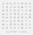 big set sport icons vector image