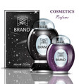 black and purple perfume bottle set collection vector image vector image