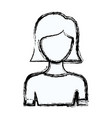 Blurred silhouette faceless half body young woman vector image