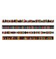 book shelves borders set vector image vector image