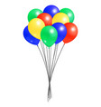 bunch helium colorful air balloons isolated vector image vector image