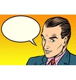 businessman says comic book bubble vector image vector image