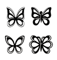 Butterfly silhouette isolated on white backgroun vector image vector image