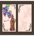Card with grapes wine on hand-drawing style vector image