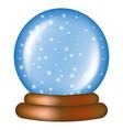 christmas snowglobe cartoon design icon symbol vector image vector image