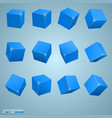 colored cubes 3d art object vector image vector image