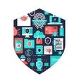 Computer Security Decorative Elements vector image