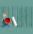 construction tools on a wooden background vector image