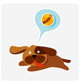 cute cartoon dog is running and playing vector image vector image