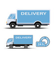 delivery cargo truck car logistics vector image vector image
