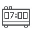 digital clock line icon electronic and digital vector image vector image
