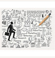 drawing businessman idea doodles icons vector image vector image