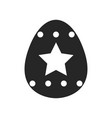 easter egg flat object or icon isolated on white vector image
