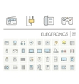 electronics and multimedia color icons vector image vector image