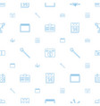 event icons pattern seamless white background vector image vector image