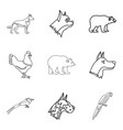 farrier icons set outline style vector image vector image
