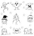 Flat Halloween hand draw in doodle vector image vector image