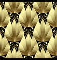 gold 3d flowers seamless pattern vector image vector image