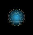 golden enneagram yoga flat icon design isolated vector image vector image