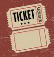 grunge ticket vector image vector image