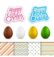 Happy Easter greeting cards creation kit vector image