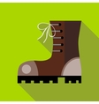 Hiking boot icon in flat style vector image vector image