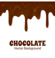 horizontal seamless chocolate trickles vector image vector image