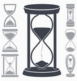 hourglass icon symbol of time vector image