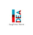 idea logo letter template design vector image vector image