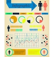 Infographics Elements Set Man and Woman vector image