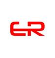initial letter er logo template design vector image vector image