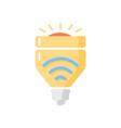 light bulbs flat color icon vector image
