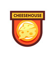 logo for cafe or cheese shop and dairy farm vector image