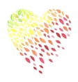 lovely autunm heart vector image vector image