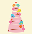 Lovely Birds With Wedding Cake vector image