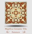 majolica ceramic tile vintage ceramic majolica vector image vector image