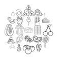master of appetizers icons set outline style vector image vector image