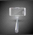 monopod selfie stick with vector image vector image