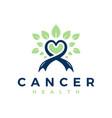 natural cancer treatment logo vector image