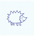 of zoology symbol on hedgehog vector image vector image