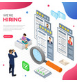 Online isometric employment and hiring concept