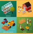 organic farming design concept vector image vector image