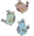 paisley birds vector image vector image