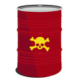 red barrel toxic vector image vector image